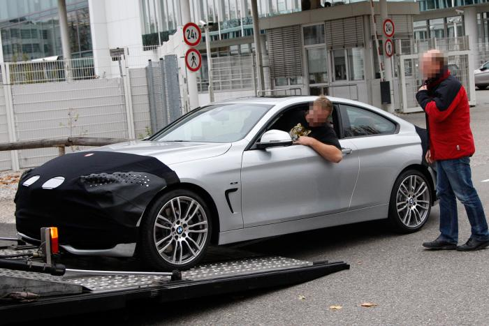BMW 4 Series (New 3 Series Coupe) Spied with Less Camo
