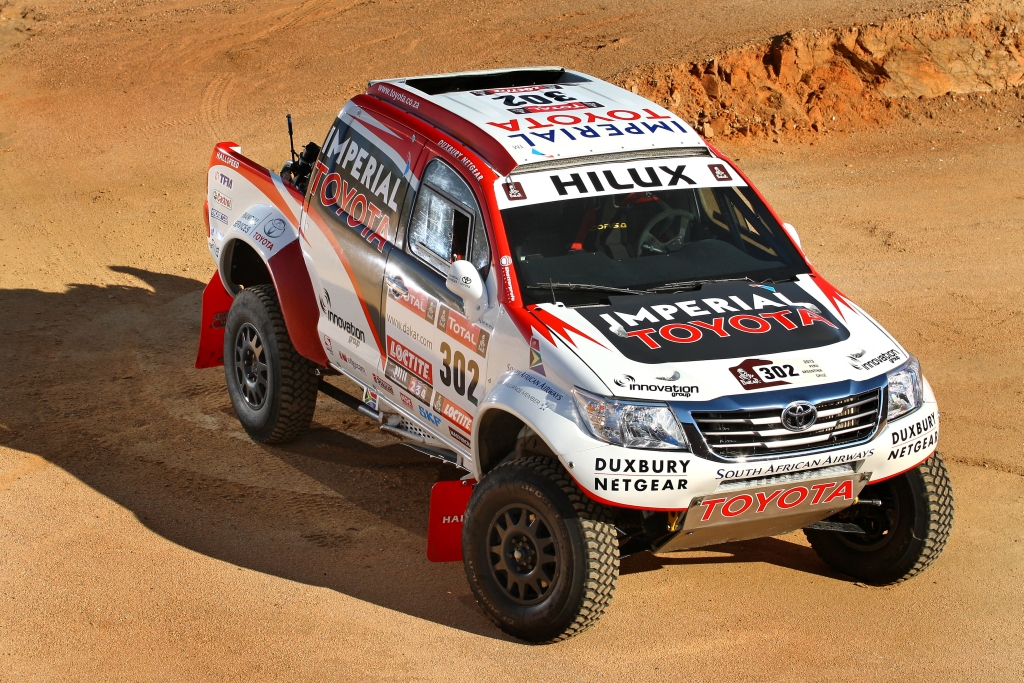 Test Programme for Dakar Rally Toyota Hilux Progressing Well