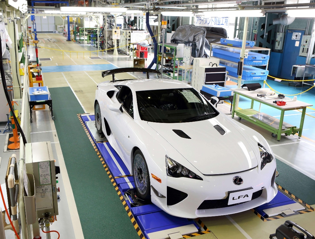 Final Lexus LFA Rolls Off Production Line