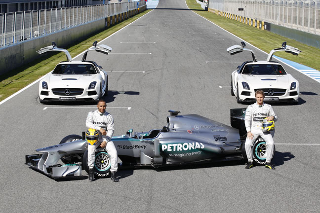 Mercedes AMG Petronas Launches 2013 Silver Arrow
