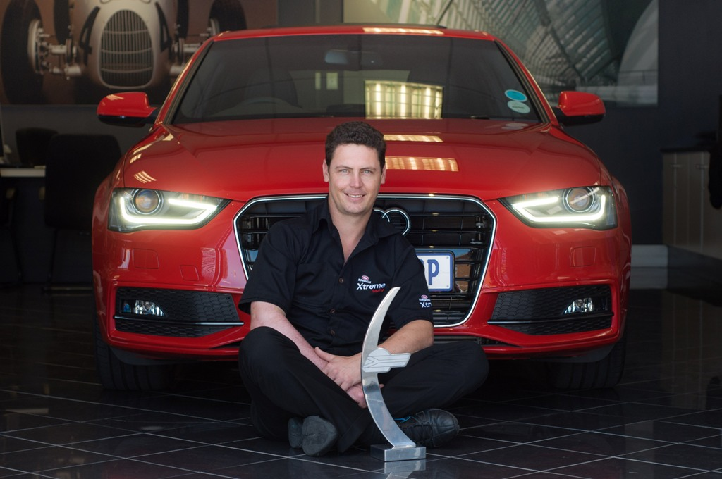 Audi Hands Over New Audi A4 to Champion Michael Stephen