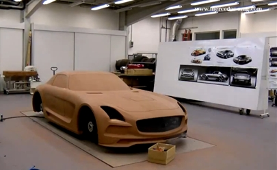 Watch The SLS AMG Coupe Black Series Clay Model Come To Life [Video]