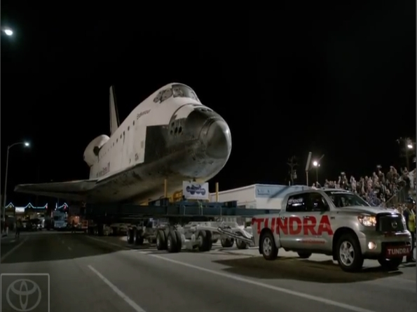 Toyota Pickup Tows Space Shuttle Endeavour